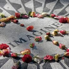 John Lennon memorial mosaic in Central Park, June Marie Sobrito / Shutterstock.c