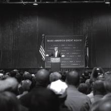 Donald Trump at a campaign rally Oct. 10 in Atlanta.