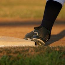 Baseball runner's foot, Lauren Simmons / Shutterstock.com