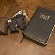 Keys, a Bible, and a gun. Image courtesy Jorge R. Gonzalez/shutterstock.com.