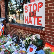 Memorial for Orlando victims outside the landmark Stonewall Inn in New York City.