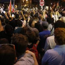 Vigil in front of the Stonewall Inn in New York City for the victims of the Pulse Nightclub shooting