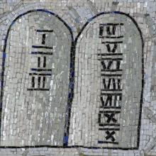 Ten Commandments Mosaic. Image via Zvonimir Atletic / Shutterstock