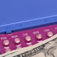 Birth control pills with payment, Brooke Becker / Shutterstock.com