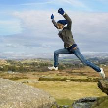 Photo: Leap of faith, Matthew Williams-Ellis / Shutterstock.com