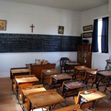 (Catholic classroom photo by Shutterstock.com)