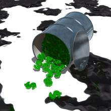 Oil barrel filled with money. Illustration courtesy BobbyWjr/shutterstock.com