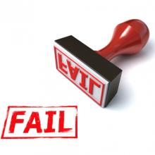 Fail stamp, koya979 / Shutterstock.com