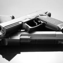 Handgun photo, Nomad_Soul / Shutterstock.com