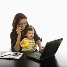 Working mother illustration,  iofoto / Shutterstock.com