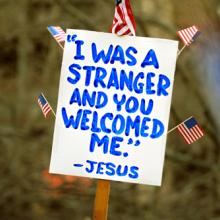 Sign at an immigration rally, Jorge Salcedo / Shutterstock.com