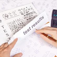 Person taking an IQ test. Photo courtesy RNS/shutterstock.com
