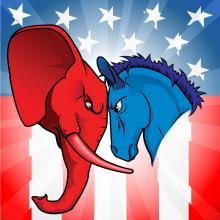 Democrat and Republican symbols. Christos Georghiou / Shutterstock.com