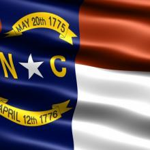 State flag of North Carolina. Illustration courtesy Martin Bangemann/shutterstoc