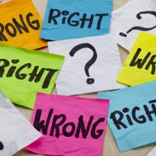 Right and Wrong image, marekuliasz /Shutterstock.com