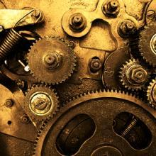 Photo: Clock gears, © Vitaly Korovin/ Shutterstock.com