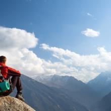 Atop a mountain, Pavel Ilyukhin / Shutterstock.com