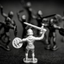 Toy battle, B Calkins / Shutterstock.com