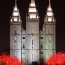 Mormon Temple in Salt Lake City