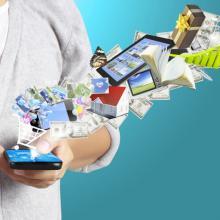 Media consumption illustration, violetkaipa / Shutterstock.com