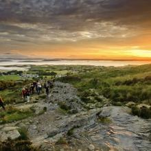 Pilgrims on Croagh Patrick mountain, Westport, Co. Mayo, Ireland. Getty Images.