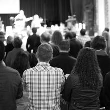 City Church San Francisco Worship Service at Sutter Campus. Photo via Steven Sta