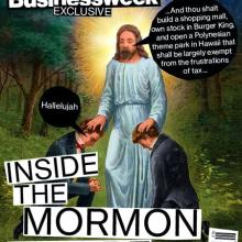 The July 13 cover of Bloomberg Businessweek that's come under fire from Mormon l