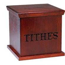 Tithe box via http://www.wylio.com/credits/Flickr/4089420589