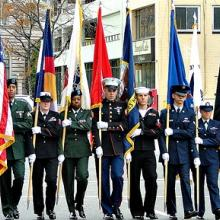 A Veterans Day parade.