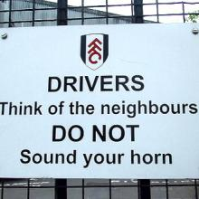 """Fulham Warning"" via Wylio http://www.wylio.com/credits/Flickr/5682817579"