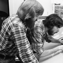 Jim Wallis and Ed Spivey Jr., 1976 / Sojourners archive photo