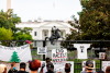 Protesters gather at the White House on July 24,2020.